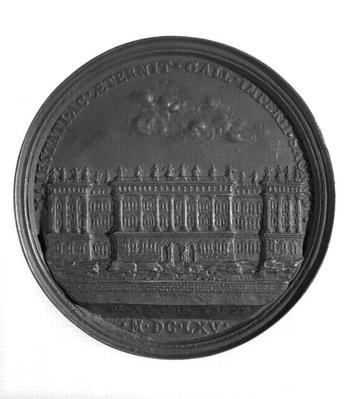 Medal with Bernini's design for the Louvre, 1665
