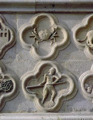 Quatrefoils depicting Cancer and June, c.1220
