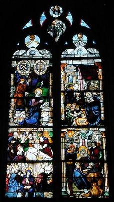 Window depicting the Annunciation, Nativity, Presentation and Adoration of the Magi