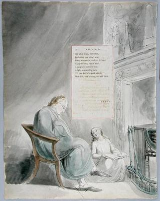 'Epitaph on Mrs. Clarke', design 104 from 'The Poems of Thomas Gray', 1797-98