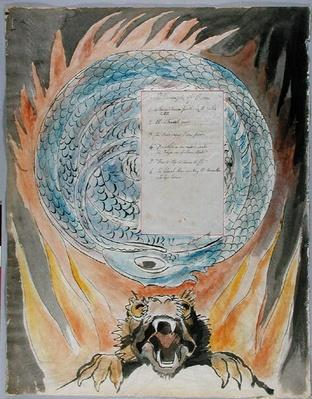 'The Triumphs of Owen', design 86 from 'The Poems of Thomas Gray', 1797-1798
