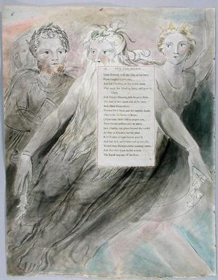 'Ode for Music', design 98 from 'The Poems of Thomas Gray', 1797-98