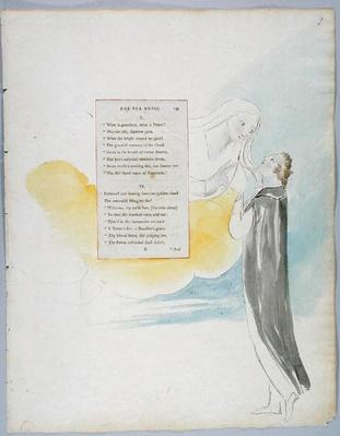 'Ode for Music', design 99 from 'The Poems of Thomas Gray', 1797-98