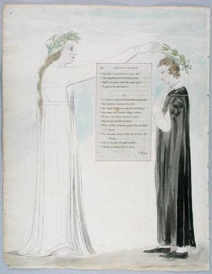 'Ode for Music', design 100 from 'The Poems of Thomas Gray', 1797-98