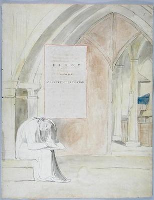 'Elegy written in a Country Church-Yard', design 105 from 'The Poems of Thomas Gray', 1797-98