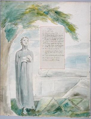 'Elegy written in a Country Church-Yard', design 106 from 'The Poems of Thomas Gray', 1797-98