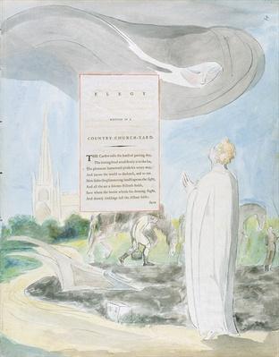 'Elegy written in a Country Church-Yard', design 107 from 'The Poems of Thomas Gray', 1797-98