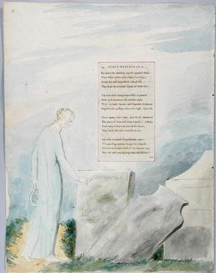 'Elegy written in a Country Church-Yard', design 112 from 'The Poems of Thomas Gray', 1797-98