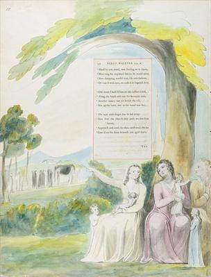 'Elegy written in a Country Church-Yard', design 114 from 'The Poems of Thomas Gray', 1797-98