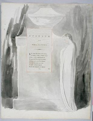 'Epitaph on Mrs. Clarke', design 103 from 'The Poems of Thomas Gray', 1797-98