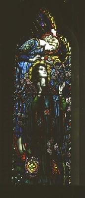 Window depicting St. Cecilia