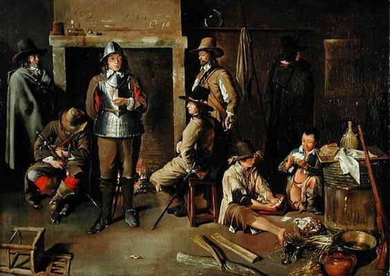 Soldiers at Rest in an Inn