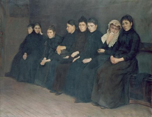 Waiting in the Clinic, 1888