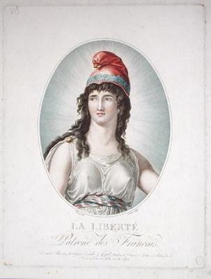 Liberty, Patron of the French, engraved by Ruotte