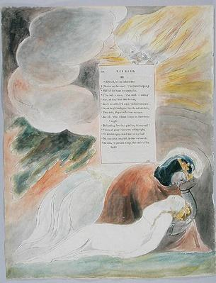 The Bard, design 62 from 'The Poems of Thomas Gray', 1797-98