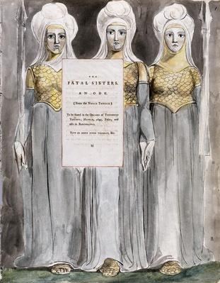 The Fatal Sisters, design 67 from 'The Poems of Thomas Gray', 1797-98