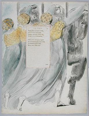 The Fatal Sisters, design 75 from 'The Poems of Thomas Gray', 1797-98