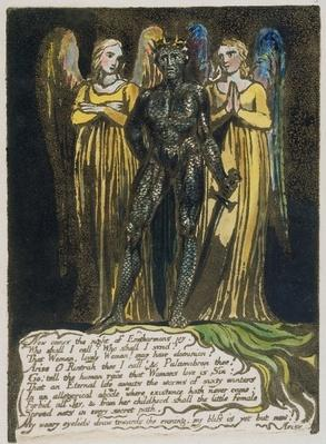 'Now comes the night...' plate 7 from 'Europe. A Prophecy', 1794