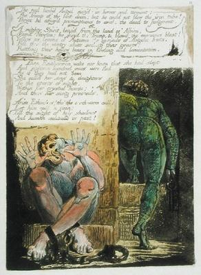 'The red limb'd Angel...', plate 15 from 'Europe. A Prophecy', 1794