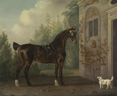 Lord Abergavenny's Dark Bay Carriage Horse with a Terrier, 1785