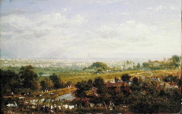London from Islington Hill, c.1820-30