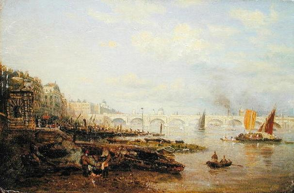 The Thames and Waterloo Bridge from Somerset House, c.1820-30