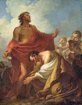 St. John the Baptist Baptising the Jews in the Desert, 1743