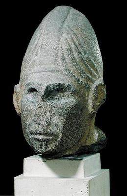 Head of a Syrian god, from Jabbil, Northern Syria, 17th century BCE