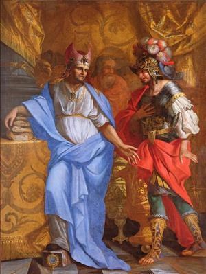 Meeting between Abraham and Melchizedek