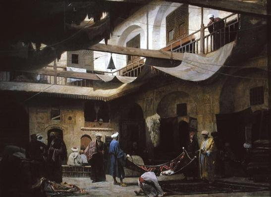 The Carpet Bazaar, Cairo, before 1866