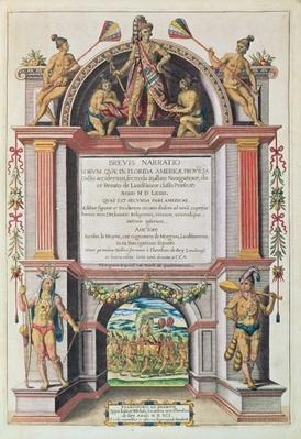 Frontispiece to 'Brevis Narratio..', engraved by Theodore de Bry