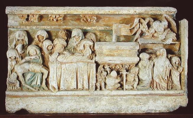 Relief depicting Scenes from the Passion of Christ: Pieta, the Entombment and the Holy Women at the Tomb