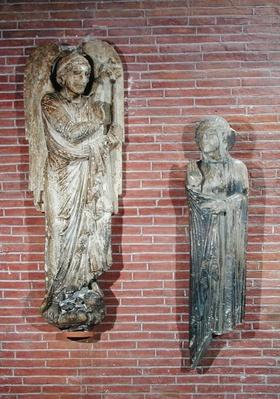 Figures of the Annunciation, from the exterior of Saint-Sernin, Toulouse, c.1200