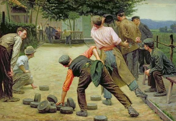 A Game of Bourles in Flanders, 1911