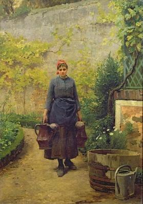 Woman with Watering Cans