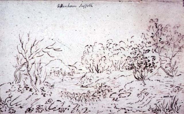 Landscape with a stream at Wenham, 1796
