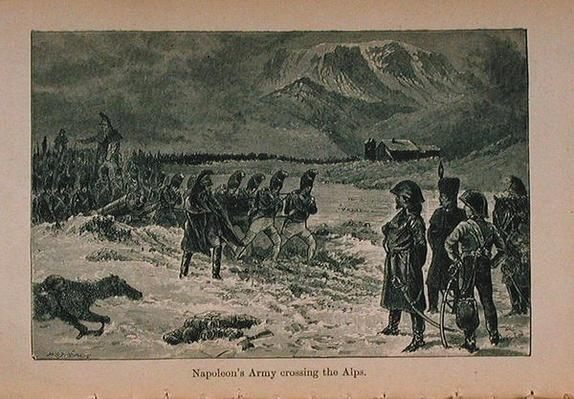 Napoleon's Army crossing the Alps
