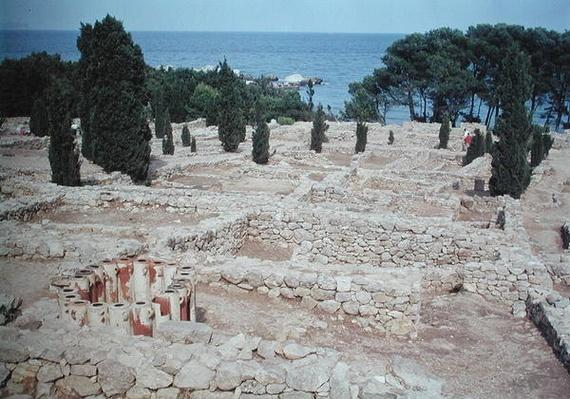 Greek ruins of the port of Emporion