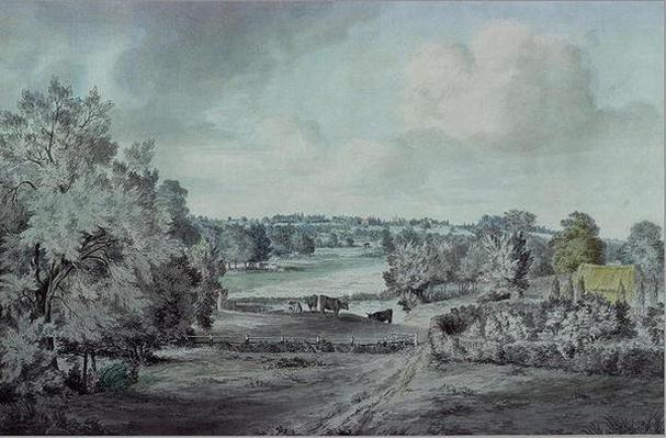 The Valley of the Stour, with Langham church in the distance