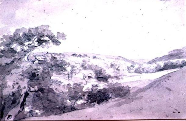 Chatsworth Park 99;landscape; monochrome; hill; hilly;