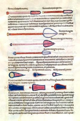 Ms 89 Ter fol.122v Surgical instruments from a treatise by Abul Qasim Kalaf ibn al-Abbas al Zahrawi