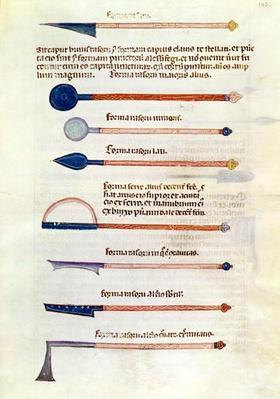 Ms 89 Ter fol.115 Surgical instruments from a treatise by Abul Qasim Kalaf ibn al-Abbas al Zahrawi
