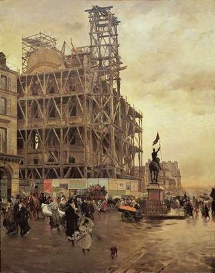The Place des Pyramides, Paris, 1875