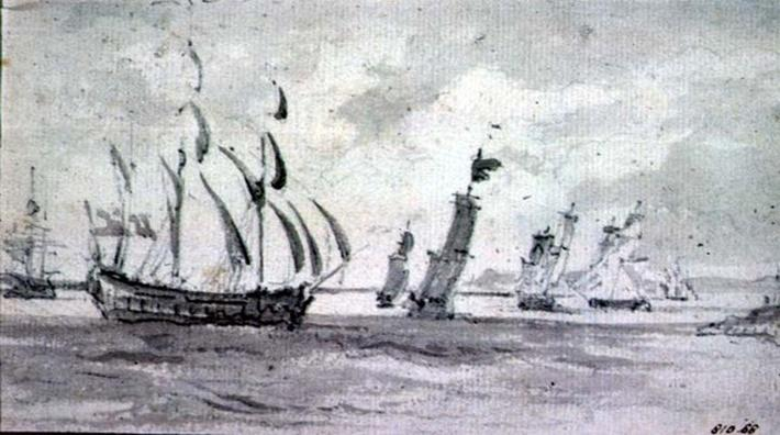 Shipping in a Breeze in the Thames or Medway