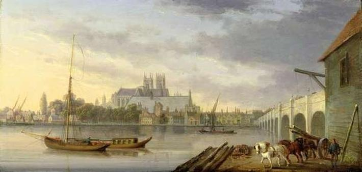 A View of Westminster Bridge and the Abbey from the South Side, 1818