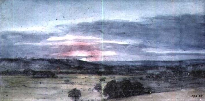 Dedham Vale from East Bergholt: Sunset