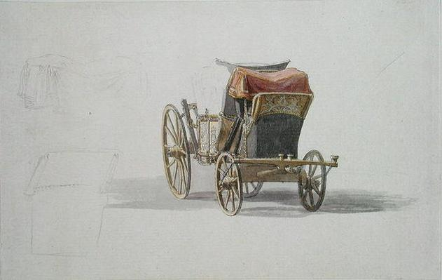 A Coach with Royal Coat of Arms, c.1764