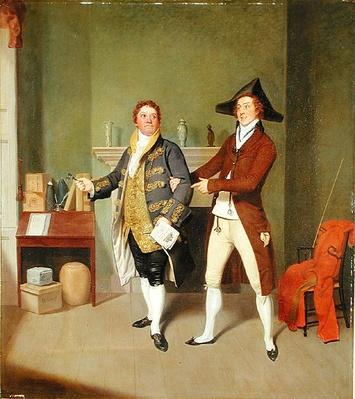 John Quick and John Fawcett in Thomas Moreton's 'The Way to Get Married', 1796