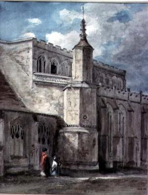 Part of the Exterior of East Bergholt Church: The North Side, c. 1801-05
