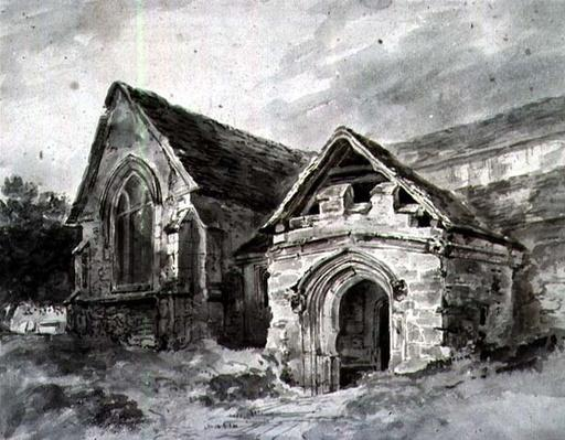 Porch and Transept of a Church, c.1850-11